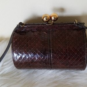 Handbags - Vintage Eel Skin Bag/Crossbody